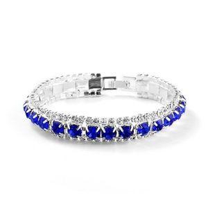 Jewelry - Blue Rhinestone Crystal Open Bracelet